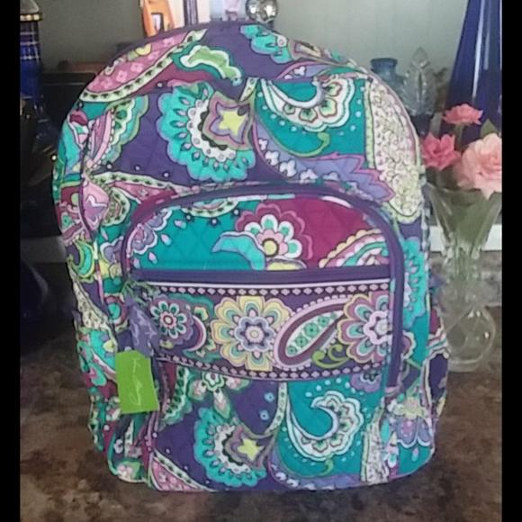 NWT Vera Bradley Campus Backpack Heather
